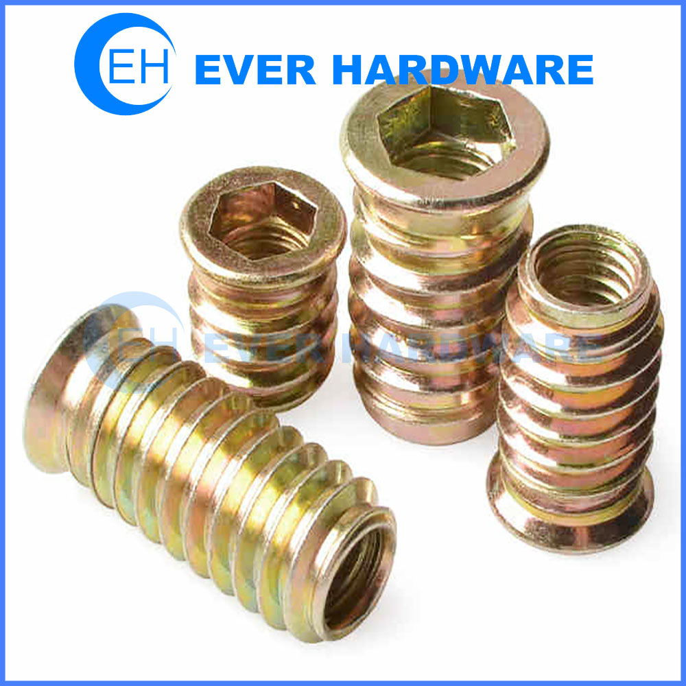 Tee Nut Inserts Metric Zinc Plated Steel Type Woodworking Assembly