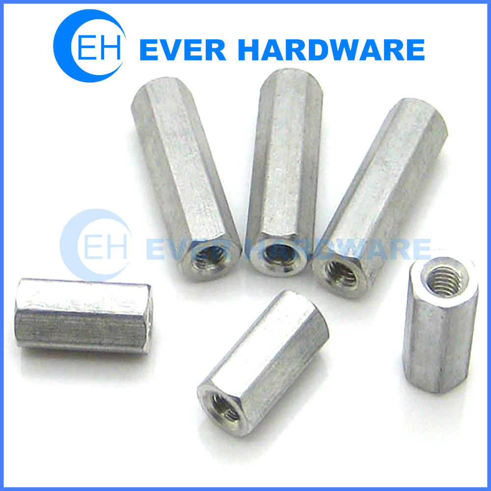 Threaded Aluminum Standoffs Clear Iridite Jack PC Board Hex Spacers