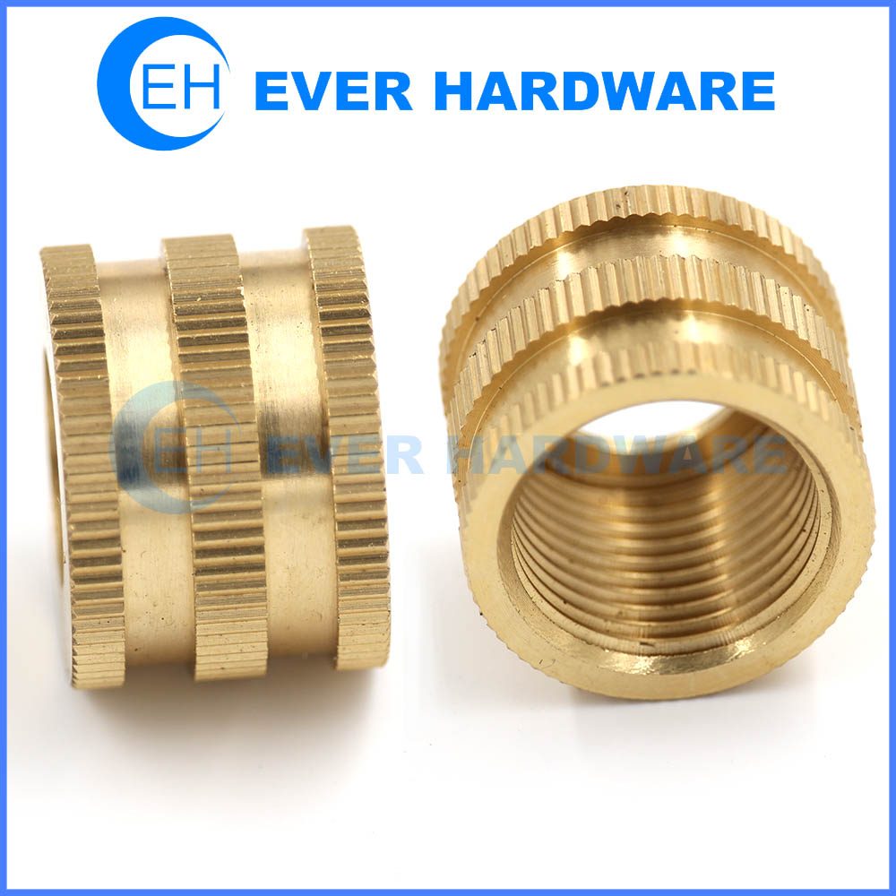 10mm Nut Brass Locking Custom Knurling Internal Threaded Fasteners