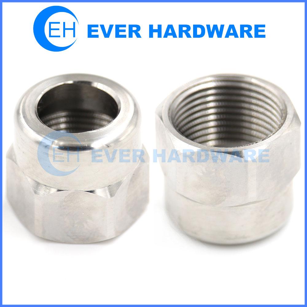 Axle Nut Rear Chrome Coating Custom Precision Hardware Fasteners Hex