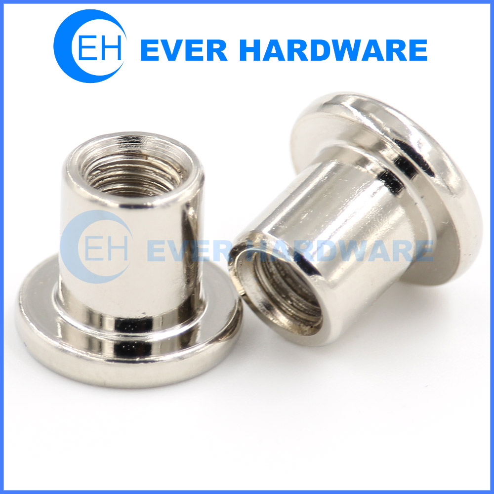 Chrome Screws Flat Head Internal Thread Cap Bolt Light Coated Nuts