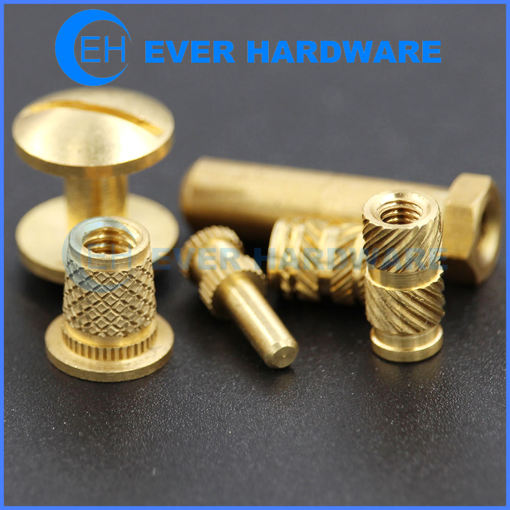 Custom Nuts And Bolts Precision Brass Fasteners External Internal