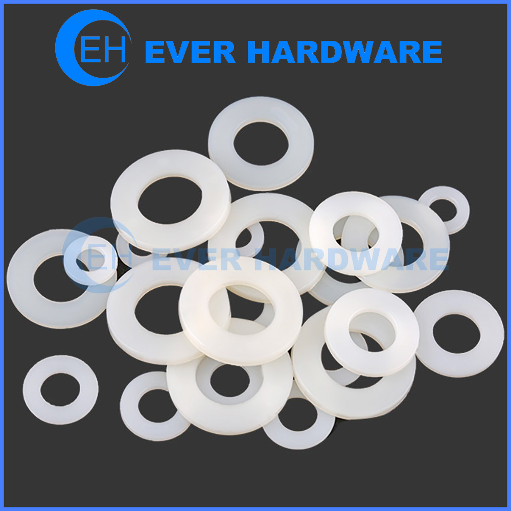 Custom Washers Silicone Nylon Insulation Gaskets Flat Spacer Ring Pads