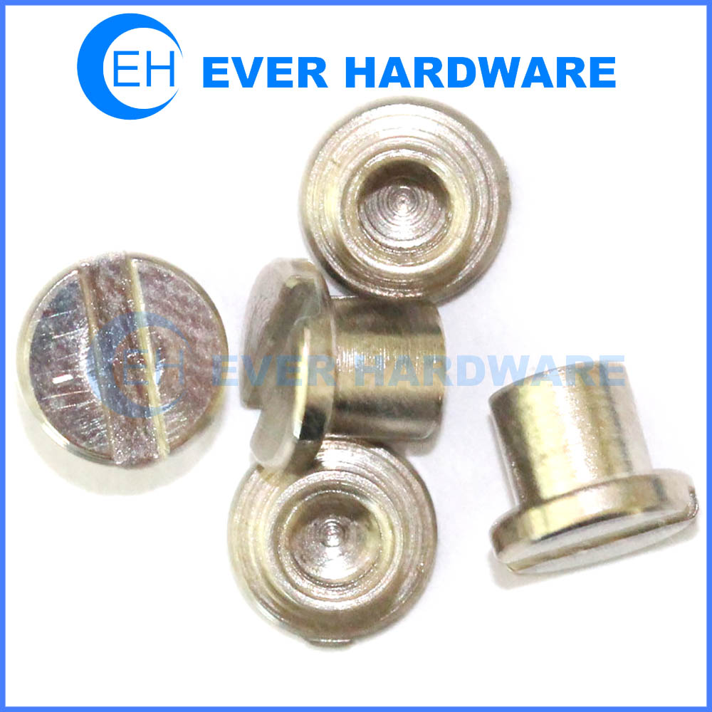 Drive Nuts Electronics Connector Slotted Drive Cap Nut Custom Steel