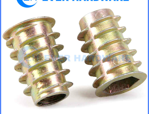 Insert Nut Threaded Wood Zinc Plated D Type Flange Alloy Steel Nuts