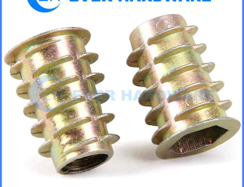 Insert Nut Threaded Wood Zinc Plated D Type Flange Alloy Steel Nuts