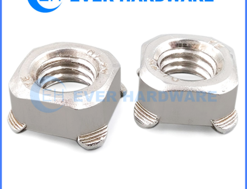 M6 Weld Nut Square Plain Steel Metric Spot Welded Threaded Nuts
