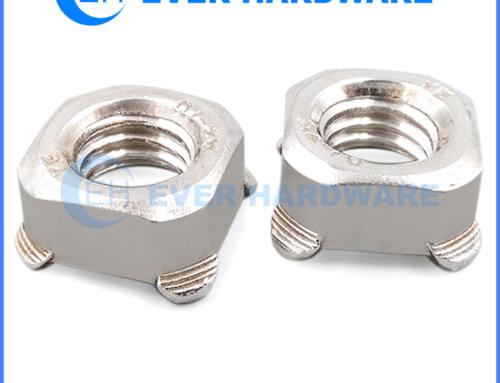 M6 Weld Nut Square Plain Steel Metric Spot Welded Threaded Nuts