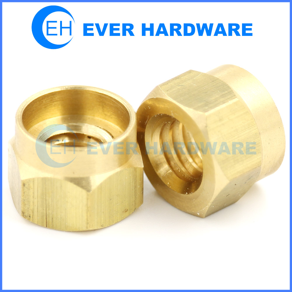 Metal Nut Hexagon Prevailing Torque Nuts Precision Custom Brass