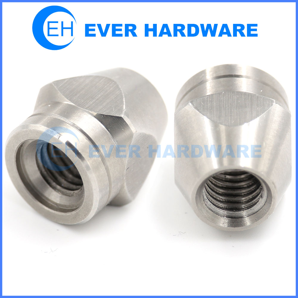 Metric Nuts Stainless Steel Conical Threaded Precision Machining Nut