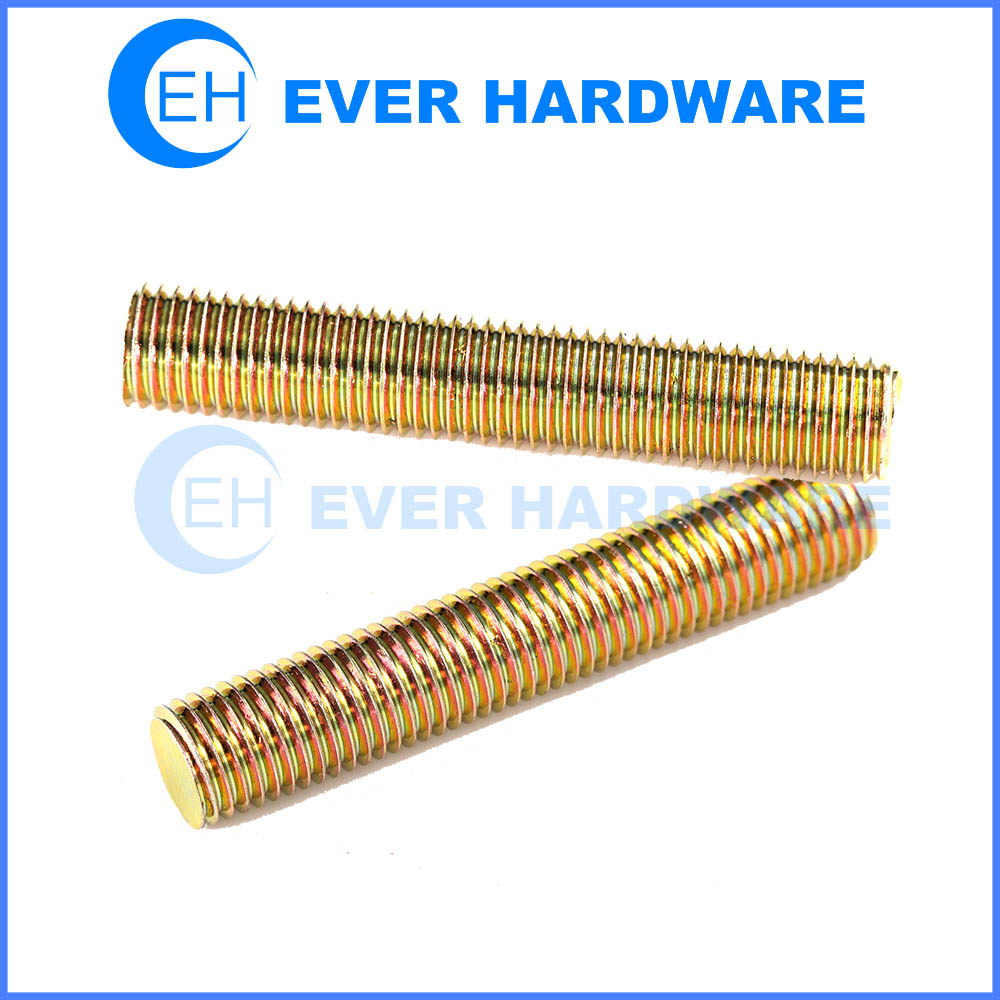 Metric Threaded Rod Brass Fully Long Threads Bars Studs Connectors