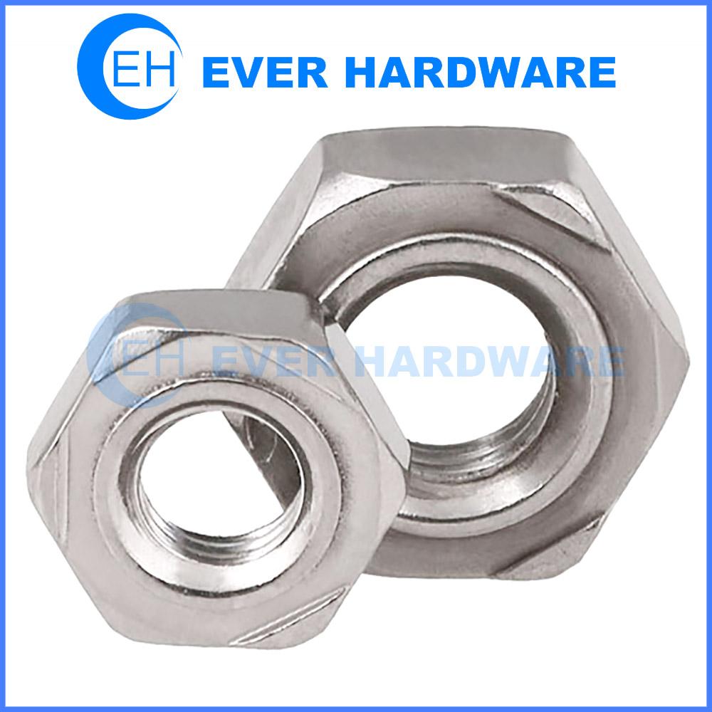 Metric Weld Nuts Projection Hex Stainless Steel Deep Collar Welding