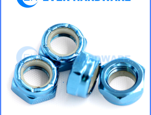 Nylock Nut Steel Hex Nylon Insert Anodizing Alex Locking Fasteners
