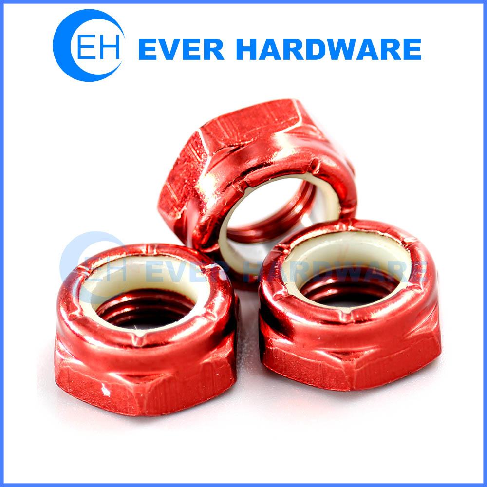 Nylon Insert Lock Nut Manufacturers Metric Imperial Hex Color Custom