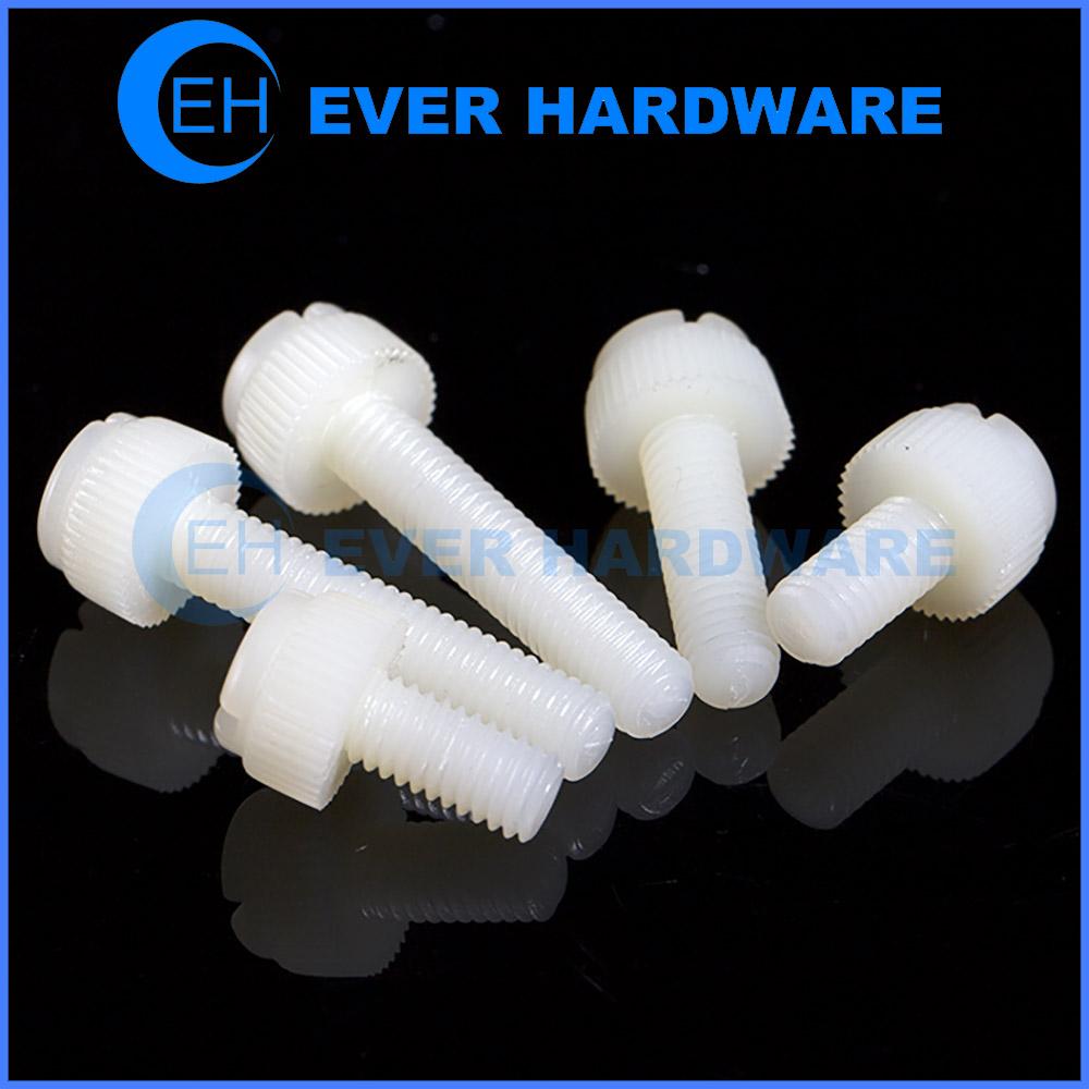 Polypropylene Screws Machine Thread Knurled Thumb Head Plastic