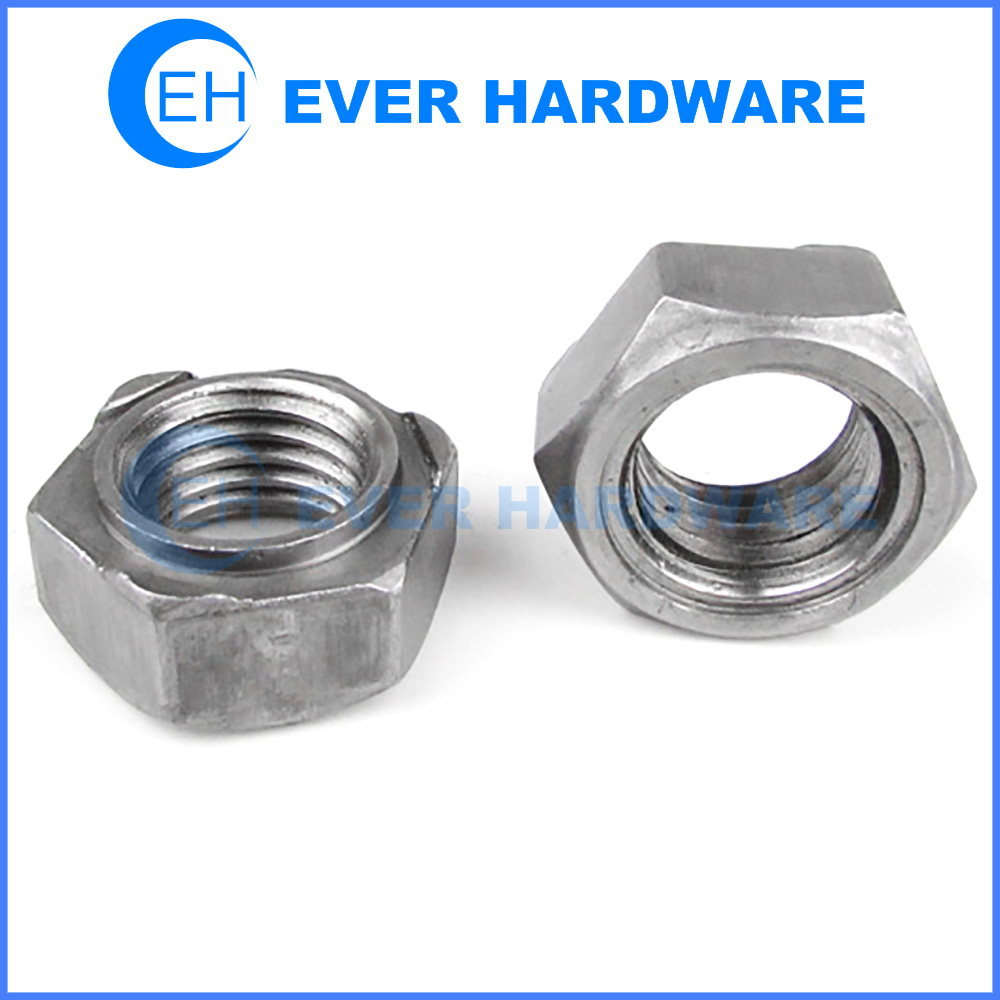 Projection Weld Nut Hex Welding Fastener Deep Collar Plain Steel