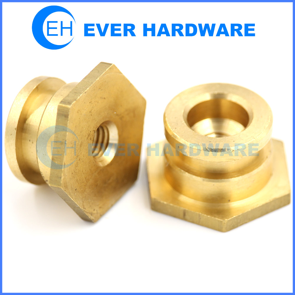 Security Nuts Tamper Proof Breakaway Shear Brass Fixings Bright Nut