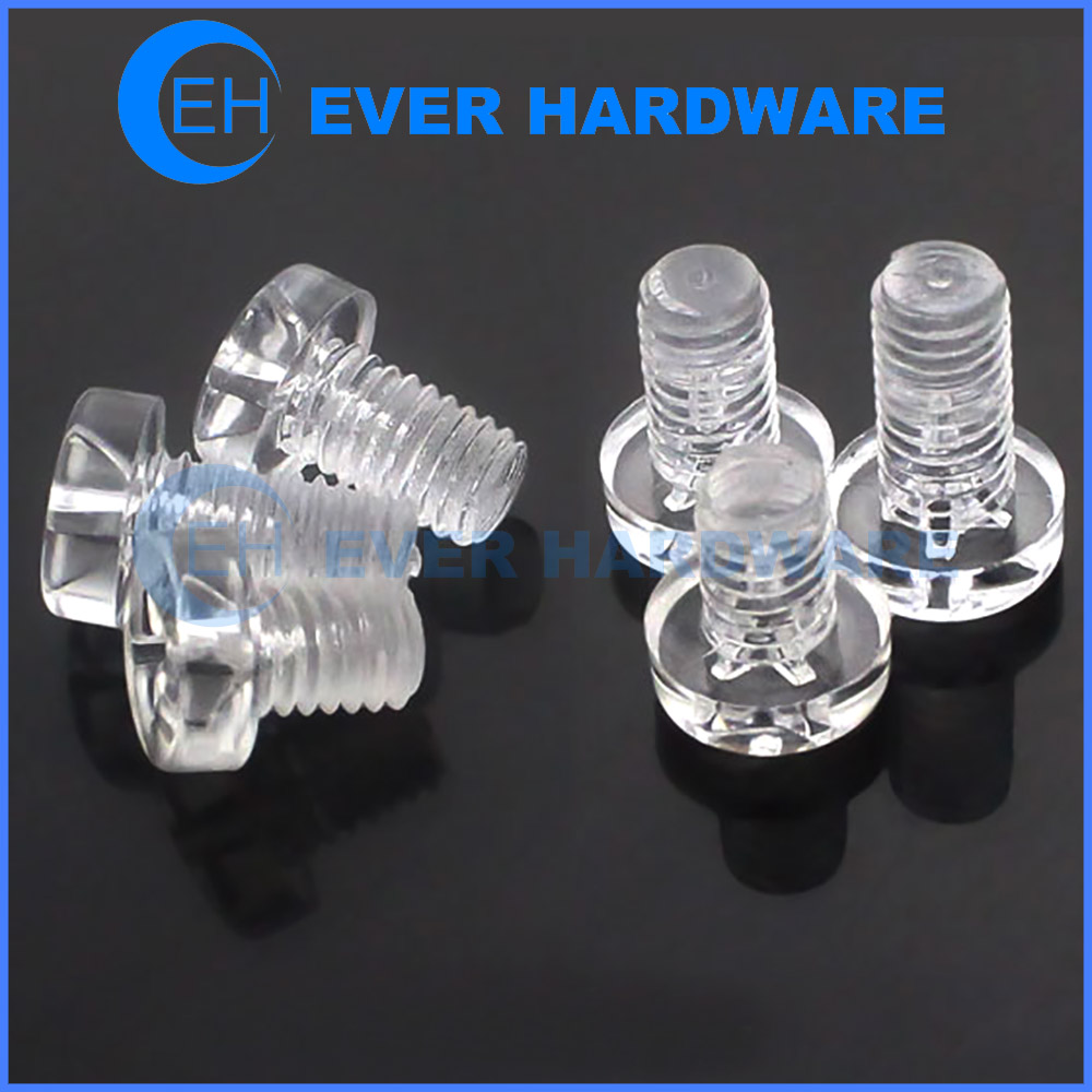 Small Nylon Screws Electronic Fastener Hardware Custom Metric Imperial