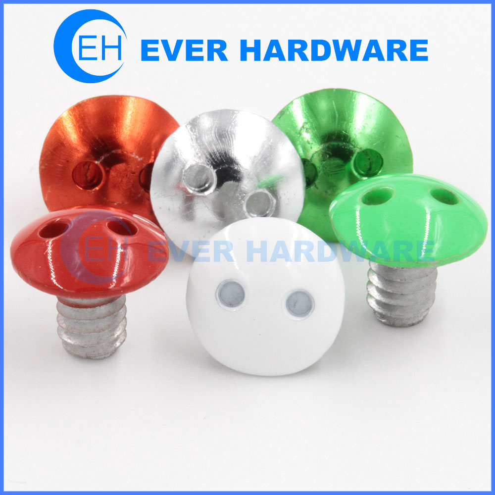Snake Eye Security Screws Stainless Aluminum Custom Machine Bolts