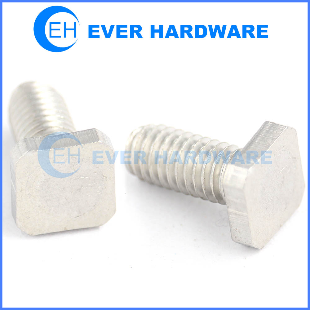 Square Screw Stainless Steel Machine T Head Entire Length Threaded