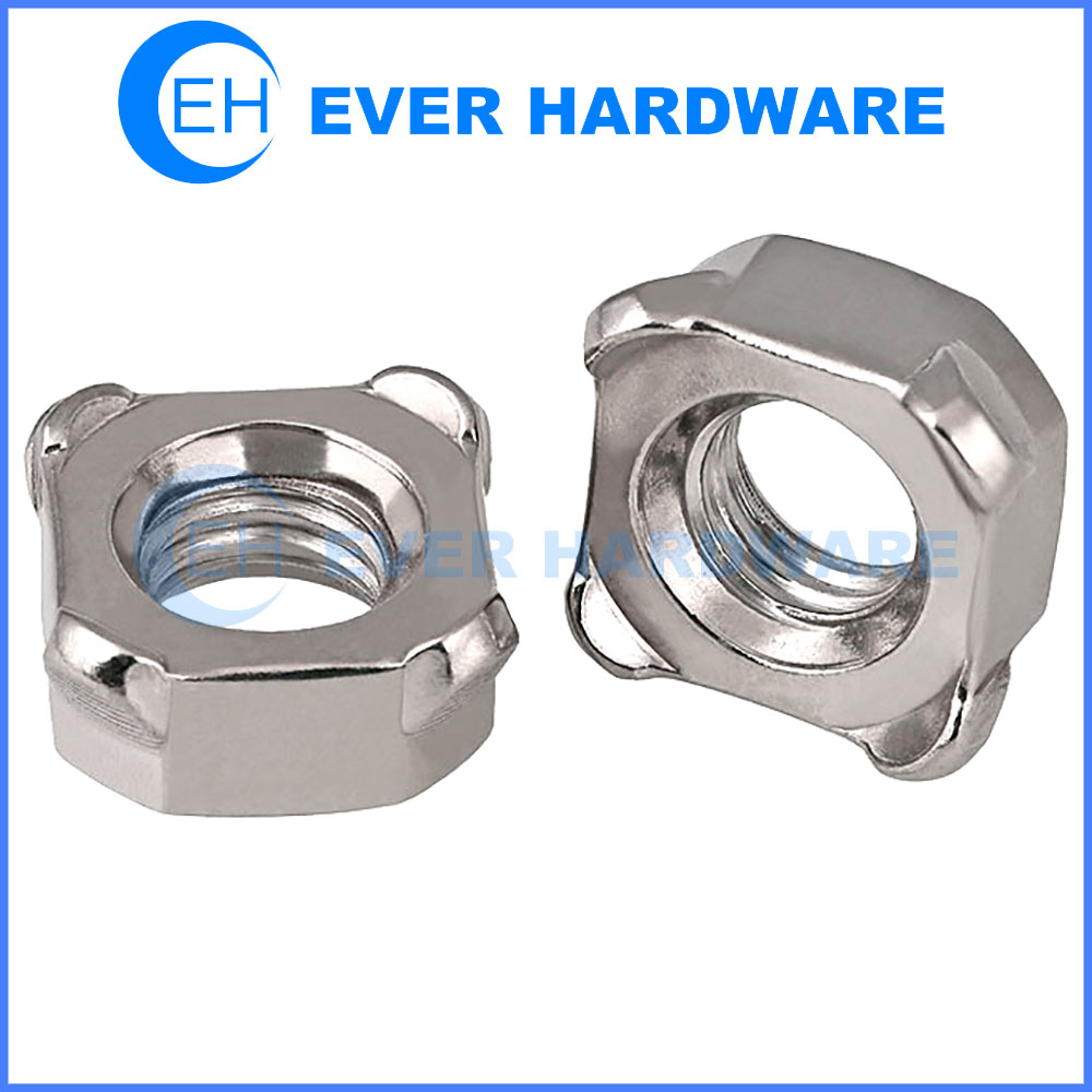 Square Weld Nuts Chamfered Thread Lock Four Corners Spot Supplier