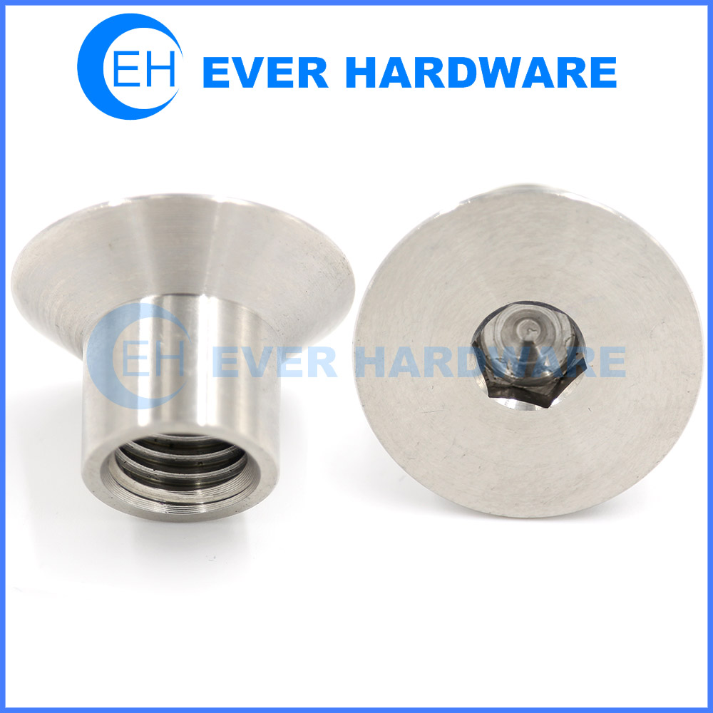 Allen Nut Stainless Steel Sleeve Flat Connector Joint Barrel Components