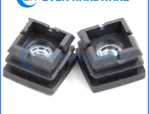 Black Nut Rubber Furniture Outfitting Leg Leveler Leg Square Feet