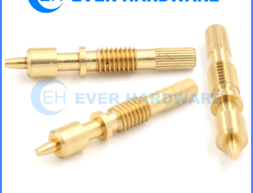 Bolt Machine Knurling Ladder Tip Handle Screw Through Brass Fasteners