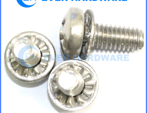 M6 Machine Screw Stainless Steel Pan Head Washer Attached SEMS