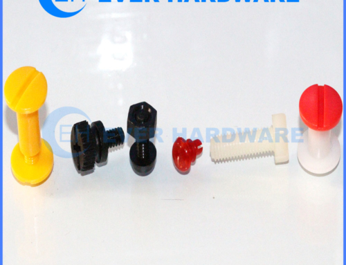 Machine Nuts And Bolts Colored Nylon Slot Post Screws Custom Made