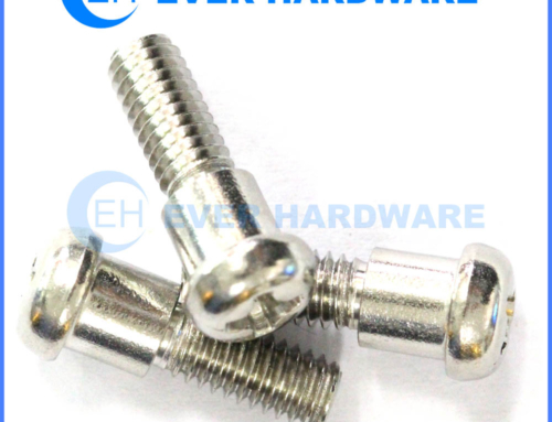 Pan Head Bolt Stainless Steel Cross Recessed Shoulder Machine Thread