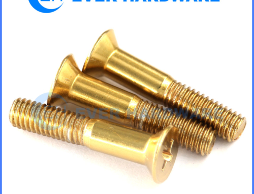 3mm Countersunk Machine Screws Half Thread Brass Coating Cross Bolt
