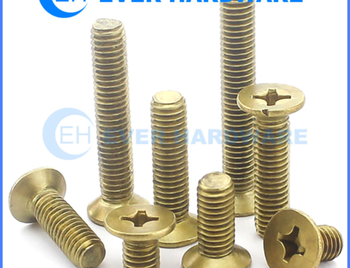 Brass Flat Head Machine Screws Solid Metric Imperial Fully Threaded