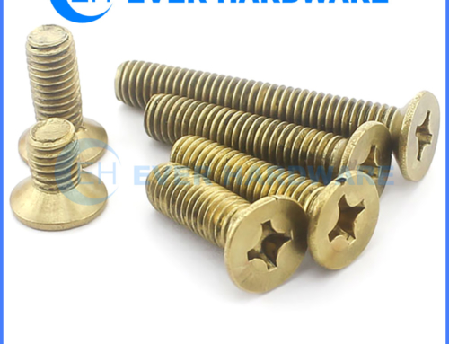 Countersunk Set Screws Brass Cross Flat Cap Plain Fasteners Bolts