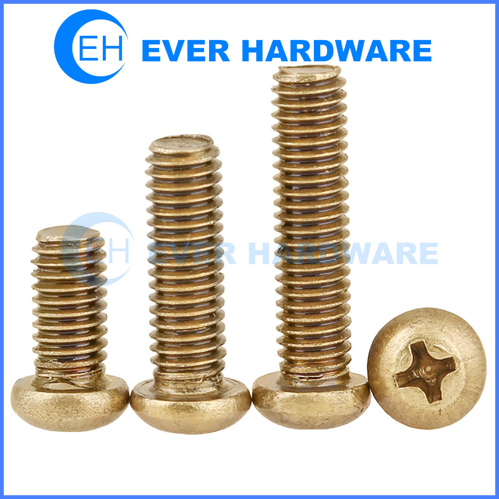 Slotted Drive #10-24 Threads Flat Head Brass Machine Screw Plain Finish 1//4 Length Pack of 100