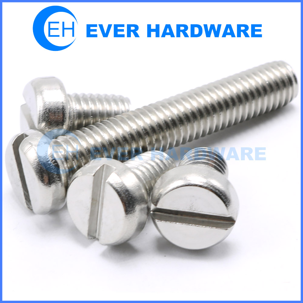 M5 M6 M8 Pan Head Slotted Machine Screw A2 Stainless Steel Slot Dome Round