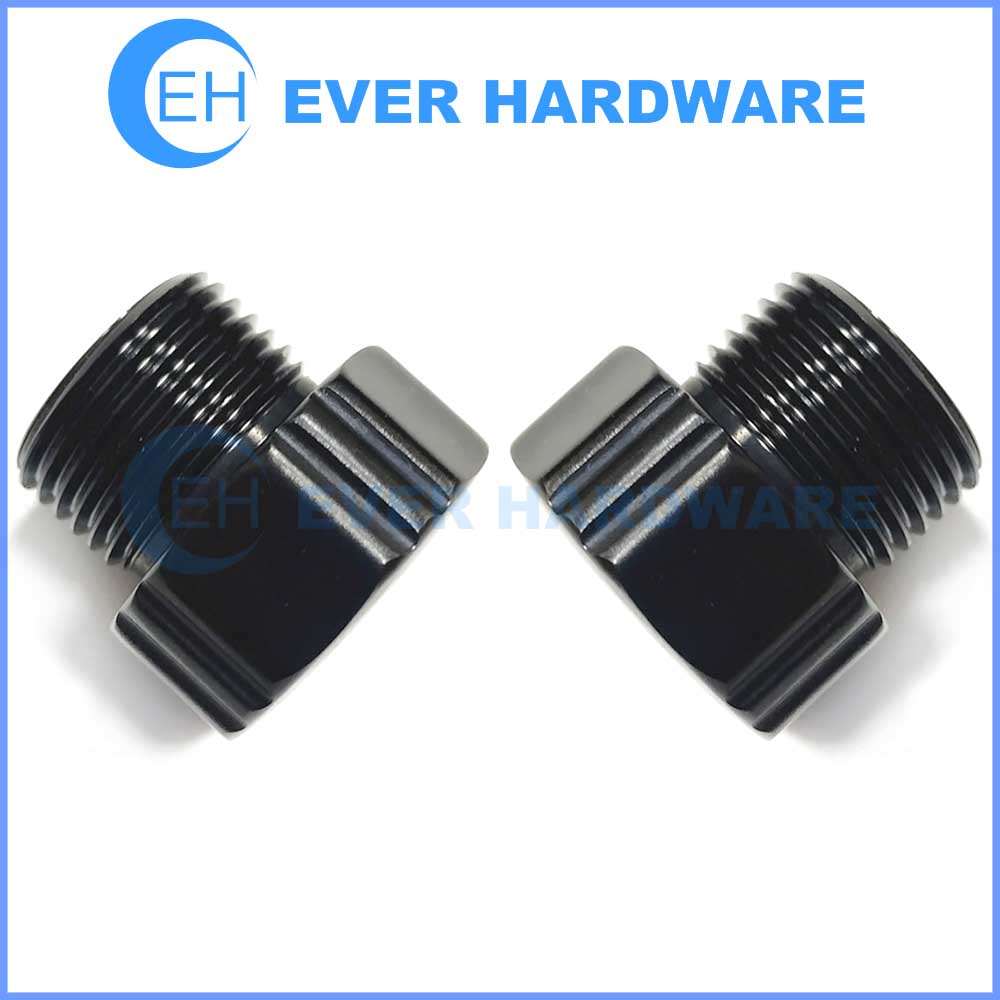 Fine Thread Machine Screws Custom-Made Aluminum Hard Black